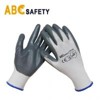 ABC SAFETY cheap grey nitrile coated gloves