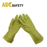 Kitchen Cleaning application Dipped Flocklined Latex Household Gloves