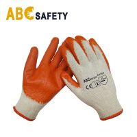 DDSAFETY Wholesale In China Natural orange safety working Latex Glove