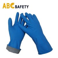 ABC SAFETY Blue cheap latex Long Sleeve Household Gloves