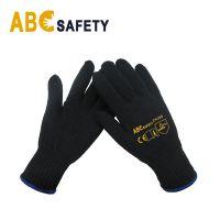 ABC SAFETY 7 Gauge  Black Cotton Or Polyester Glove Luvas Malha