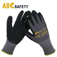 DDSAFETY Wholesale In China 13G Latex crinkle finish, coated on palm and finger latex crinkle glove