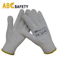ABC SAFETY 7 Gauge 100% Bleach Cotton Or Polyster Knit Glove