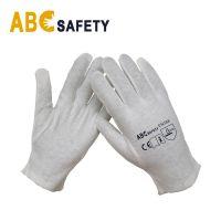 ABC SAFETY 100% Bleach Cotton / Interlock Glove Reversible With Hem