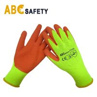 DDSAFETY Hot Sale fluoresce for shell orange for coating 4121 safety gloves