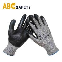 Gold Supplier China HPPE liner cut nitrile coated safety glove