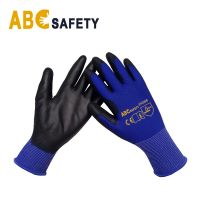 DDSAFETY High Quality promotion blue gloves pu  for labourer