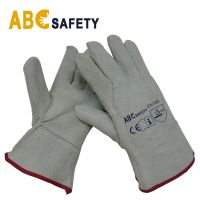 "11"" Gray Cow Split Leather Welding Gloves"