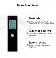 Mini Music Phone Recorder One Key Audio Recording 16GB Dictaphone Digital Voice Recorder MP3 Player V80