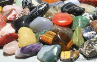 polished black stones