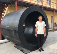 large diameter PE hollow bar for pipe fittings processing