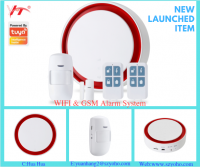 newest Tuya wireless WiFi + GSM alarm host for security and protection alarm system