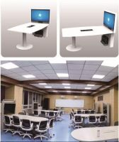 """Pochar Y700 Smart Classroom Desk Conference Table with Large Screen 55"""" Collaboration Desk"""