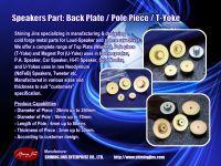 Pole Piece (T-Yoke) for Loudspeakers Motor Assembly