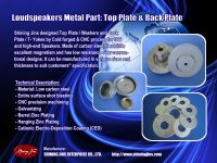 Speakers part Washer and T-Yoke made in Taiwan