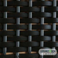 Durable Black PE Rattan For Wicker Furniture Material