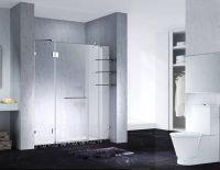 5.Fashion Design Frameless Slimline Rectangle Shower Enclosure With Pivot Door, AB 6231