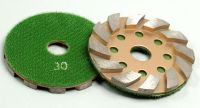 4 Inches Diamond Metal Stone Grinding Pads with Velcro Backed