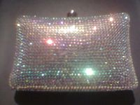 real crystal handbag/