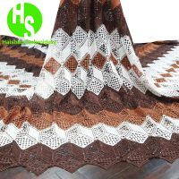African Cord Lace Fabric Guipure Lace With Stone for Women Party Dress Lastest Water Soluble Cord Fabric 5 Yard