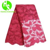2019 African French Water Soluble Cord Lace Guipure Lace Cord Lace Fabric High Quality Nigerian Lace Fabric For Wedding