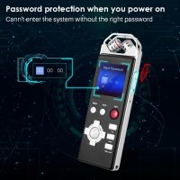 PCM Lossless Stereo Recording Digital Voice Recorder with TF Card FM Radio Dictaphone