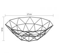 Metal Wire Kitchen Fruit Display Rack Fruit Bowl Basket