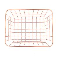 Rose gold metal wire fruit and vegetable storage basket