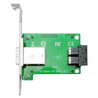 Linkreal Dual Mini-SAS SFF-8643 to SFF-8644 Adapter in PCIe Card Bracket