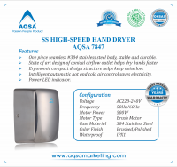 SS High- Speed Hand Dryer