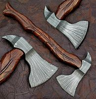Custom Handmade Damascus Steel Hunting Axe With Beautiful Rose Wood Handle