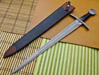 UNIQUE WORLD CUSTOM HAND MADE DAMASCUS STEEL VIKING SWORD / MICARTA HANDLE