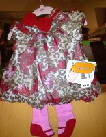 H.K. 2 pc. baby dress with leggings