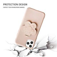 New Camellia Mirror Stand phone case with Wrist Band