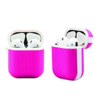 Portable Silicone Stripe Anti-shock Airpods case