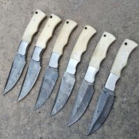 "Custom handmade Damascus Steel Blades Hunting Knives 8"""