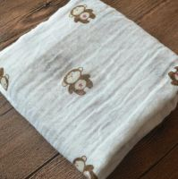 Azo free, soft 100% cotton Muslin swaddle, Muslin Blanket