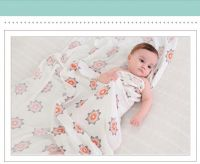 Super soft smooth 70%mboo 30%cotton Muslin swaddle, Muslin Blanket