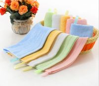 Baby bamboo burp towel with loop hook