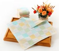 Yarn-dyed muslin/gauze fabric burp towel,100% cotton