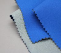 Softshell Fabric (polyester pongee fabric+ TPU bonded microfiber fleece)