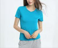 V-neck Women bamboo T-shirt,Lady Bamboo undershirt
