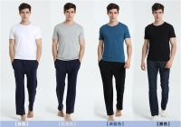 Round Neck Men Bamboo T-shirt,Bamboo Undershirt