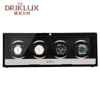 DRIKLUX Wooden Lacquer Piano Glossy Black Watch Winder Box Quiet Motor Storage Display Case Watch Shaker