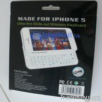 bluetooth mini keyboard with Ultra-thin and Slide-out backlit for iPhone 5