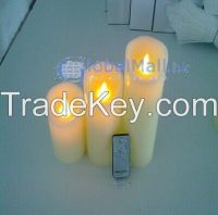 Remote Control Colorful Battery Electronic LED Candle Light