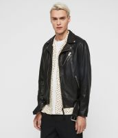 100% genuine leather jacket for man