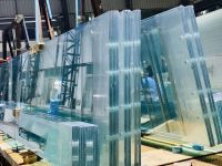 5+5mm, 6+6mm, 8+8mm clear tinted colored laminated tempered glass price good China suppliers