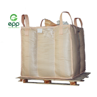 "Formstable big bags 1450D grain packaging coated Food grade Q net baffle FIBCs 35""L x 35""W x 43""H dust-proof Q canvas tote  bags"