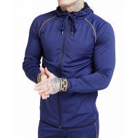 Hot Sale Custom Logo Design  Mens Tracksuit Joggers Slim Fit Sweat Pants Gym Fitness Workout Wear Latest Trouser Man Hoodies Sweatsuit